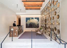 New York Room Divider This Artistic Screen Is Installed In The Lobby Of A