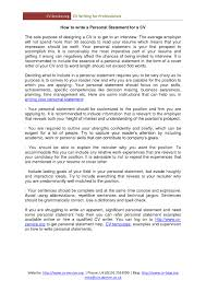 help on resume personal statement on resume resume for your job application writing cv example personal statement with personal statement resume