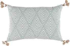 tahitian stitch horizon w tassels lumbar pillow