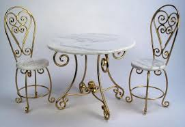 Wrought Iron Bistro Chairs Miniature Wrought Iron Tables Dollhouse Bistro Tables Dessert