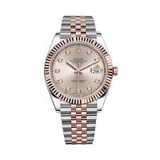 diamond rolex rolex datejust 41 126331 rose gold u0026 stainless steel watch