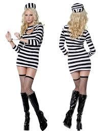 Black White Striped Halloween Costume Cheap Halloween Costumes Prisoner Aliexpress