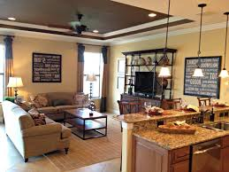 living room singular open concept living room kitchen images