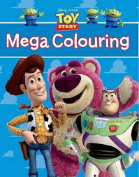 disney pixar toy story mega colouring book amazon uk toys