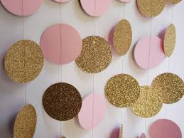 pink and gold baby shower decorations gold and light pink party decoration bridal shower decor