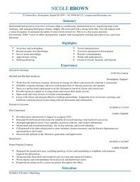 executive assistant resume templates brilliant executive assistant resume template in executive
