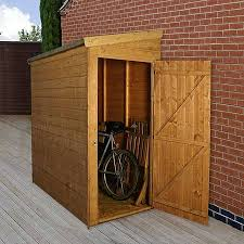 6 x 3 waltons tongue and groove pent garden storage unit bike