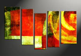 Abstract Home Decor 5 Piece Canvas Colorful Home Decor Abstract Multi Panel Art