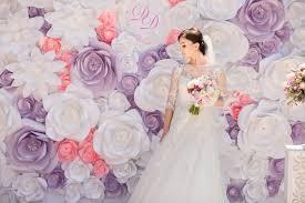 wedding unique backdrop paper flower backdrop unique paper flowers backdrop by miogallery