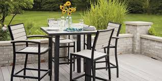 outdoor bar height table and chairs set barstol bar height patio table and chair sets best of amazing