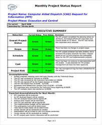 project monthly status report template 42 monthly report format templates free premium templates