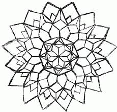 geometric flower coloring pages kids coloring