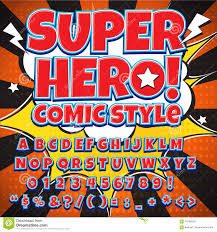 creative high detail comic font alphabet in the style of comics
