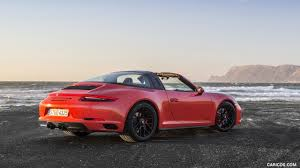 Porsche 911 Orange - 2018 porsche 911 targa 4 gts color lava orange rear three