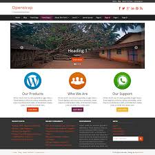 bootstrap themes header responsive wordpress theme