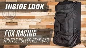 motocross gear bags fox racing shuttle roller motocross gear bag inside look youtube