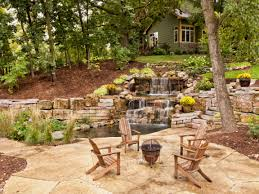 pond waterfall ideas back yard ponds and waterfalls with fire pit