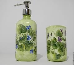 buy decoupage set 2pcs tumbler holders soap dispenser bathroom