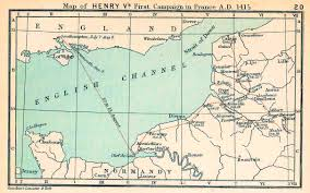 Calais France Map by Map Of The English Channel 1415