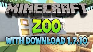Zoo Map Minecraft Huge Zoo Map All Mobs And More 1 7 10 Download