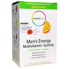 rainbow light vitamins mens rainbow light men s energy multivitamin gummy delicious orange