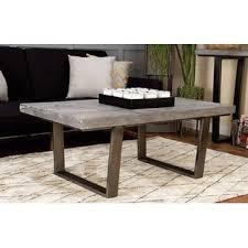 Concrete Coffee Table Agatha Concrete Coffee Table Wayfair