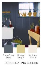 blue gray slate honey beige and antique white glidden new