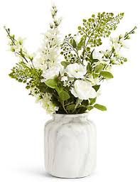 Artificial Lilies In Vase Artificial Flowers Marks U0026 Spencer London Us