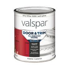 shop valspar door and trim ultra white semi gloss oil based enamel