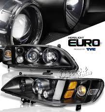 Honda Accord Lights 98 02 Honda Accord Projector Headlights Black By Tyc