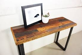 modern wooden console tables buy a hand made patchwork reclaimed timber console table made to