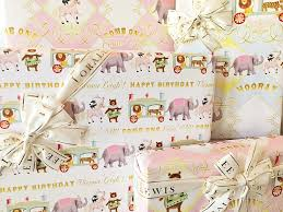 personalized wrapping paper circus personalized wrapping paper collection