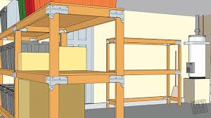 Storage Shelf Wood Plans by Heavy Duty Shelving Unit Diy Done Right