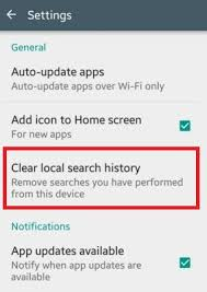 clear history android how to clear play store search history android