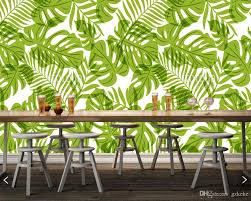 home decoration wallpapers custom home decoration wallpaper green palm tree leaves natural
