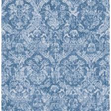 sapphire blue wallpaper beacon house lotus sapphire damask wallpaper 2669 21769 the home depot