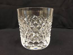 Vintage Waterford Crystal Signed 8 Inch Flower Vase In Vintage Waterford Crystal Old Fashioned Glass Alana Pattern