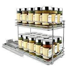 kitchen cabinet storage target lynk professional slide out spice rack cabinet organizer 6 wide
