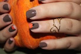 a beautiful heart pumpkin nails