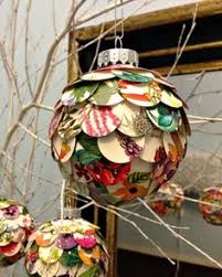 rolled paper christmas tree ornament homemade christmas