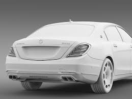 mercedes maybach 2015 mercedes maybach s600 x222 2015 by creator 3d 3docean
