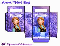 printable paper bags frozen free printable paper bags in lilac frozen pinterest
