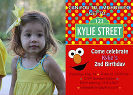 2nd Birthday Invitation Card Elmo Birthday Invitations Template Birthday Invitations