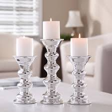 better homes and gardens ceramic metallic pillar candle holders
