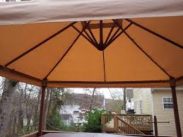 Patio Roofs And Gazebos by Smith And Hawken Target Eucalyptus Wood Gazebo Replacement Cover