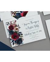 navy wedding invitations amazing savings on rustic navy marcella and blush floral