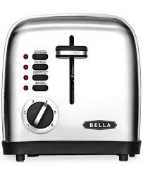 Calphalon 4 Slot Stainless Steel Toaster Bella 14307 2 Slice Polished Stainless Steel Toaster Electrics