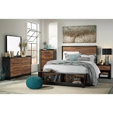 ashley furniture platform bedroom set queen platform bed w storage bench footboard by signature design by