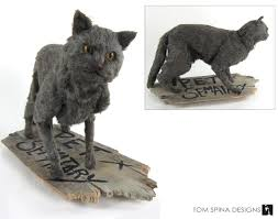 pet sematary prop cat puppet display tom spina designs tom