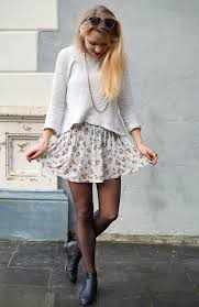 20 style tips on how to wear floral skirts in winter gurl com